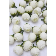 "Бутон цветов ""Пион"" 2,5 см  белый, 2 шт."