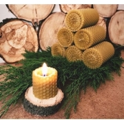 Свеча из вощины набор (2 столбика по 13см)