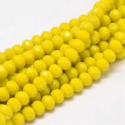 Бусины стекло граненое 8мм (10шт.) желтые непрозрач