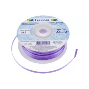 Лента атласная 3мм №082 фиолетовый (10 м)