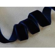 Лента бархатная  25 мм темно-синий №180 (1 м)