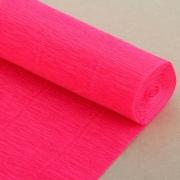 Гофрированная бумага №551 0.5х2.5м Ярко-розовая