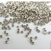 Бусины зажимные кримпы (50шт.) серебро