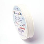 Эластичная нить DN 0.6 мм №14 белая (18 метров)
