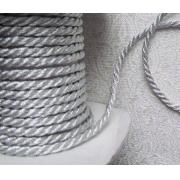 Шнур витой декоративный 5 мм серебро (1метр)