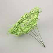 Каркас для букета (ротанг), зеленое яблоко, d=20см