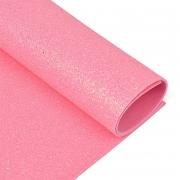 Фоамиран глиттерный 2мм 20х30см розовый