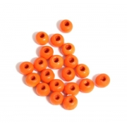 Бусины дерево HBO-02 7 мм (50 шт.) оранжевые