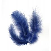 Перья 10-13 см 30 шт, темно-синие №043