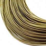 Канитель жесткая 1мм Dull gold 0126 (1метр)