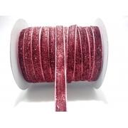 Лента бархатная металлизированная 15мм (1метр) розовая