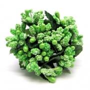 Декоративный букетик зеленый 119B (12шт.)