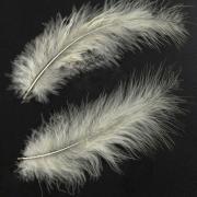 Перья 10-13 см 30 шт, бледно-желтые №124