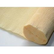 Гофрированная бумага №577 0.5х2.5м Лимонно-кремовая (Италия)