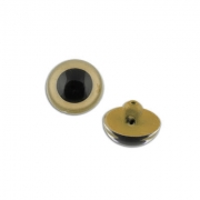 Глаза пластик CRP-12 12мм пришивные (пара) бежевые