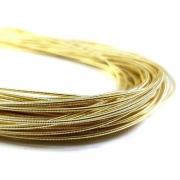 Канитель жесткая 1мм Light gold 0243 (1метр)