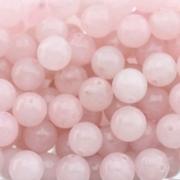 Бусины кварц розовый 10мм (4шт.)