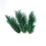 Перья 10-13 см 30 шт, темно-зеленые №023