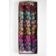 Бабочки декоративные 5 см на проволоке ассорти, 1 шт.