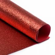 Фоамиран глиттерный 2мм 20х30см красный