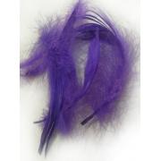 Перья 9см 12гр. фиолетовые