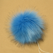 Помпон иск.мех 15см PIP10 серо-голубой
