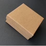 Коробка крафт подарочная 9х9х3см