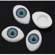 Глазки пластик 11 мм голубые (пара)