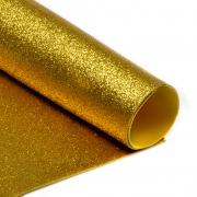 Фоамиран глиттерный 2мм 20х30см золото