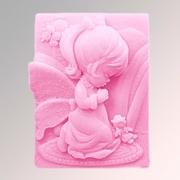 """Форма для мыла """"Ангел 80 2D"""" силиконовая  130 г"""