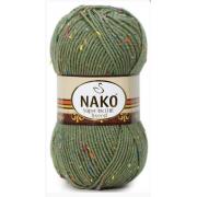 Пряжа Nako SUPER INCI HIT TWEED 6440 хаки (Турция)