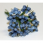 Декоративный букетик темно-голубой 026H (12шт.)
