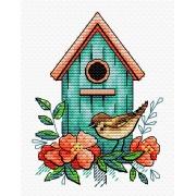 """Набор для вышивания """"Воробьиный дом"""" М-366 8х11см"""