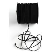 Шнур бархатный 2,5х1 мм (2 метра) чёрный