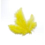 Перья 7-10 см 30 шт, желтые №09