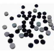 Термоклеевые стразы Zlatka 4.7 мм черный (144 шт.)