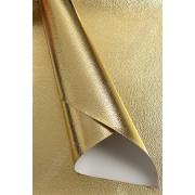 Кожа искусственная текстурный металлик 22х30 см, золото, 1 лист