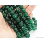 Агат с огранкой темно-зеленый 8мм (4шт.)