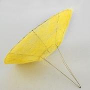 Каркас для букета гладкий (сизаль), желтый, d=25см