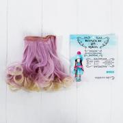 Волосы - тресс для кукол «Кудри» длина волос: 15 см, ширина: 100 см, №LSA042
