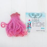 Волосы - тресс для кукол «Завитки» длина волос: 15 см, ширина: 100 см, №LSA036