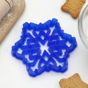 """Форма для вырезания печенья """"Снежинка"""" 9х9 см пластик"""
