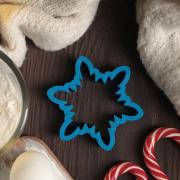 """Форма для вырезания печенья """"Снежинка многогранная"""" 9 см, пластик, цвет микс"""