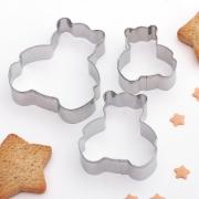 """Набор форм для печенья """"Мишки"""" 5.6х6см (3шт.)"""