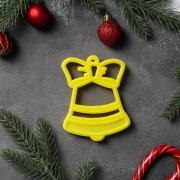 """Форма для вырезания печенья """"Колокольчик"""" 10х7,5 см, пластик, цвет микс"""
