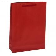 Пакет крафт красный 19х25х8см