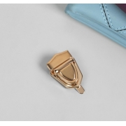 Замок для сумки/рюкзака с защелкой 25х30мм розовое золото (1шт.)