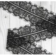 Кружево реснички 125мм черное (1метр)