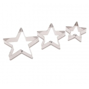 """Формы для печенья 3шт """"Остроконечная звезда"""" 6.5х5.5х1.5см"""