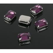 Стразы в цапах 10х14мм, фиолетовый (1шт.)